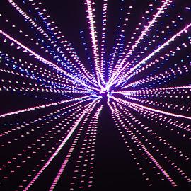 Meteor shower by Jim Barton - Abstract Patterns ( shooting stars, laser light, light design, laser design, laser, meteor shower, laser light show, space, light, science )