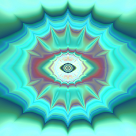 Eye 2 by Cassy 67 - Illustration Abstract & Patterns ( abstract, blue, abstract art, green, wallpaper, digital art, fractal, digital, fractals, eye, eyes )