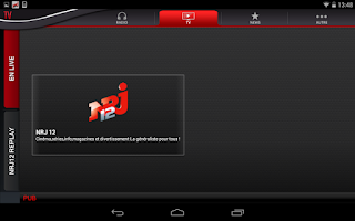 Screenshot of NRJ France Tablette