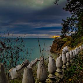 Broken line  by Gregory Dallis - Landscapes Waterscapes