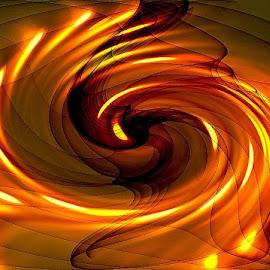 golden whirlpool by Paul Wante - Digital Art Abstract ( digital, art, golden, whirlpool, abstract, photography )