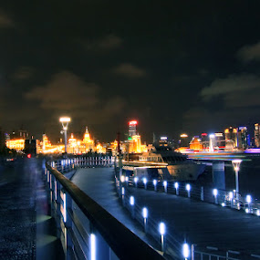 The Bund by Roly Raseda - City,  Street & Park  Vistas (  )