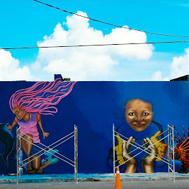 by Florent Serfati - City,  Street & Park  Street Scenes ( street art, street photography,  )