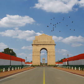 by Siddharth Yaduvanshi - Buildings & Architecture Statues & Monuments ( clouds, monuments, nature, patriotism, independence day )