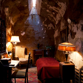 Al Capone's Prison Cell at Eastern State Penitentiary by Vicki Pardoe - Buildings & Architecture Public & Historical
