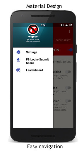 Weject- Manage incoming calls screenshot 1