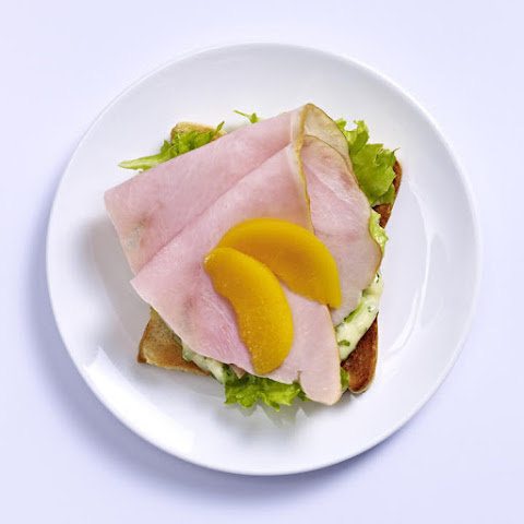 Open-Faced Turkey and Peach Sandwich