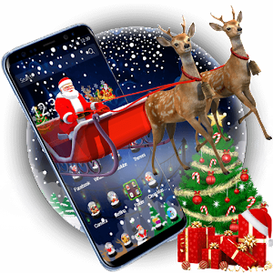 3D Merry Christmas Santa Theme For PC