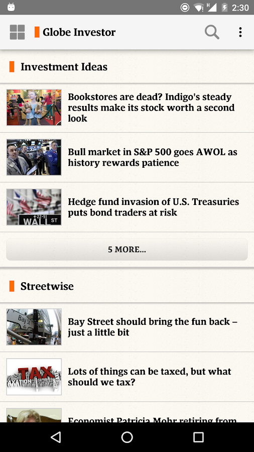 The Globe and Mail: News Screenshot 3