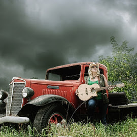 Country Flare by Sarah Rowland - People Musicians & Entertainers ( music, old car, artistic, ontario, photography )