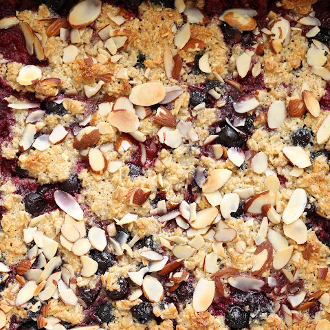 Healthy Berry Oatmeal Crumb Bars