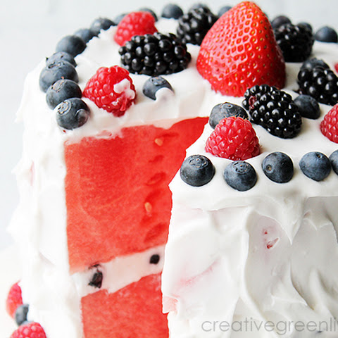 How to Make a Layered Watermelon Berry Fruit Cake
