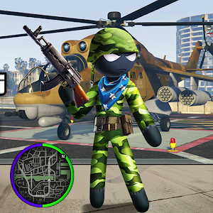 US Army Counter Stickman Rope Hero Crime OffRoad Online PC (Windows / MAC)