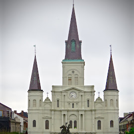Saint Louis Cathedral by Michael Villecco - City,  Street & Park  Historic Districts ( new orleans, church, cathedral, historical, religious,  )