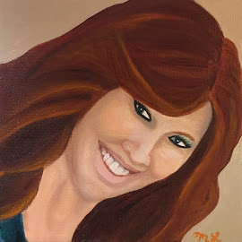 Woman with Red Hair  by Melanie Levin - Painting All Painting