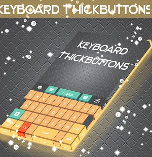 ThickButtons Keyboard - screenshot