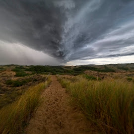 Run Forest, Run by Gary Tew - Landscapes Cloud Formations ( clouds, tasmania, beach, storm, clifton )