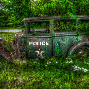 Paddy Wagon III by Chris Cavallo - Transportation Automobiles ( old car, maine, police, cop, paddy, keystone, wagon, rusty, rust, antique, decay, abandoned,  )