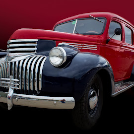 1941 Suburban by Kirk Kimble - Transportation Automobiles ( red, suburban, truck, chevrolet, automobile, antique, chevy, classic )