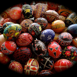 Easter in the Ukraine by Campbell McCubbin - Public Holidays Easter ( patterns, easter, eggs, colorful, pysanky, , Christmas, card, Santa, Santa Claus, holiday, holidays, season, Advent )