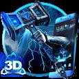 3D Thunder God Hammer Theme