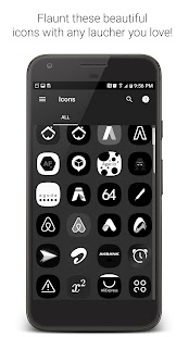BLACK S8 Launcher Theme Icons und Wallpaper Pack android apps download