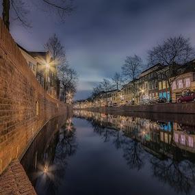 Canal Schiedam ( Netherlands ) by Henk Smit - City,  Street & Park  Neighborhoods