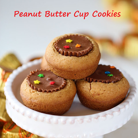 Peanut Butter Cup Cookies with Biscoff