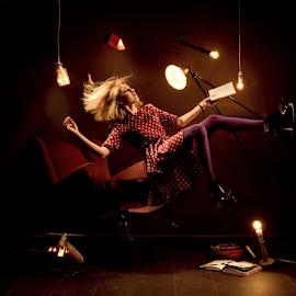 Levitation by Vineet Johri - People Portraits of Women ( photoshop levitation, girl in the air, vkumar photography, levitation photography, floating in the air, trick photography )
