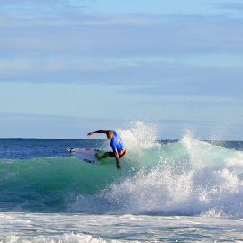 Mick Fanning at Quiksilver Pro 2017 by Robyn Downie - Sports & Fitness Surfing ( surfing, gold coast, waves, surf, professional, competition )