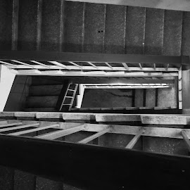 Staircases by Aritra De - Instagram & Mobile Android ( firstshot, kolkata, dusk, stairs, office, black and white, west bengal, india, redminote5pro, staircase )