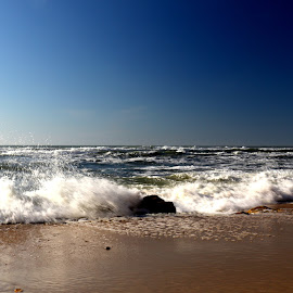 Come and go by Gil Reis - Nature Up Close Water ( water, sand, sky, nature, waves, sea, ocean, places, portugal, blues )