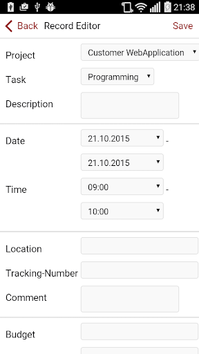 TimeTrapp - screenshot