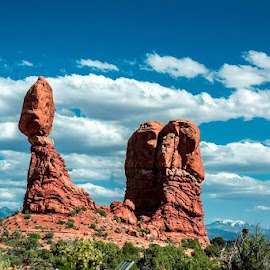 Balanced Rock by Praful Zala - Landscapes Travel ( beautiful, #nature, #balancedrock, #formation, #redrock )