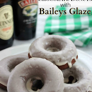 Guinness Chocolate Donuts with Baileys Glaze