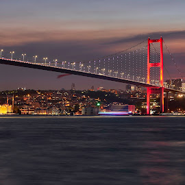 Merhaba Istanbul by Souhayl Bk - City,  Street & Park  Night ( viewpoint, turkey, cityscape, bridge, istanbul, city )
