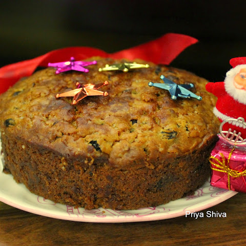 Eggless Christmas Fruit Cake / Spiced Rum Fruitcake