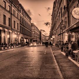 Bar Street 2:a långgatan by Mikael Svensson - City,  Street & Park  Street Scenes ( #nightlife, #bars, #street, #people )