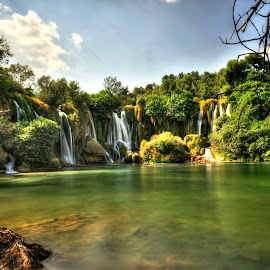 Kravice Falls bosnia by Muhammad Ahmed - Landscapes Waterscapes ( kravice, falls, waterfall, bosnia, summer, lake, landscape, picnic )