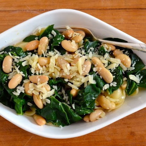Italian Style Swiss Chard and Cannelini Beans with Orchietti Pasta
