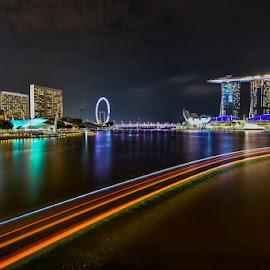 by Mac Evanz - City,  Street & Park  Night ( singapore )