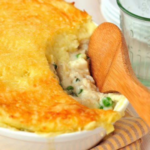 Potato Gratin With Fish And Cheese