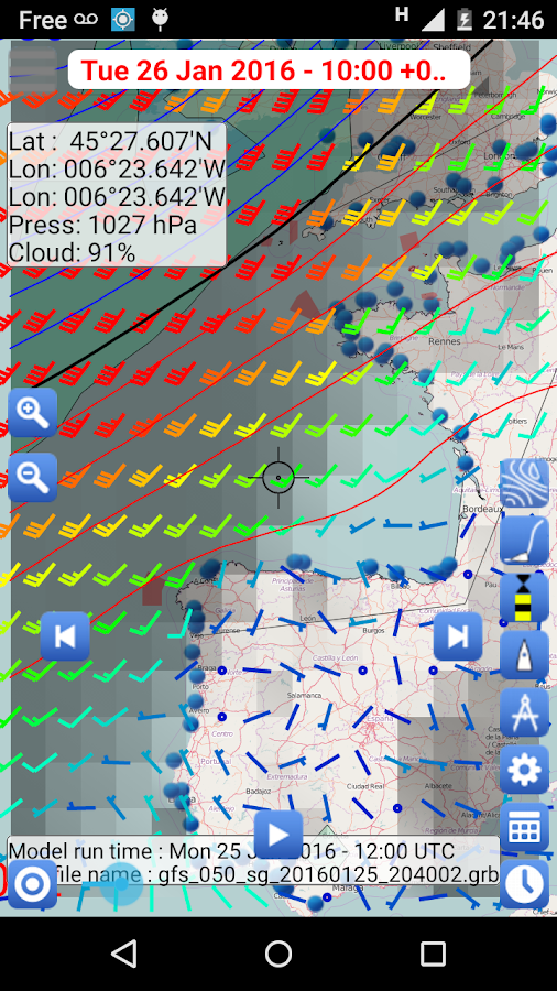 Weather - Routing - Navigation Screenshot 2