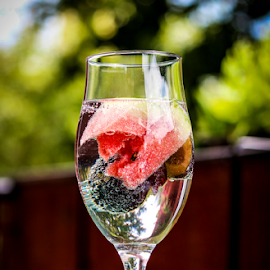 Fruit infused water by Suzana Trifkovic - Food & Drink Alcohol & Drinks ( water, fruit, drink, glass, watermelon, plum )