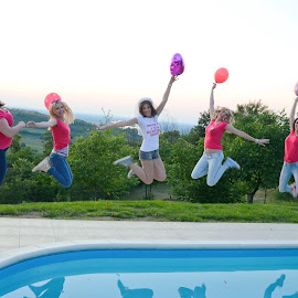 Jump by Sasa Rajic Wedding Photography - Wedding Groups ( girls, wedding photography, jumping, wedding, bride, jump )