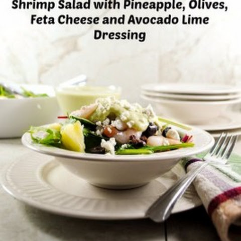 Shrimp Salad with Pineapple, Olives, Feta Cheese