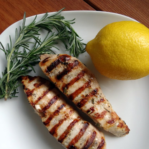 Grilled Lemon Garlic Rosemary Chicken Breasts