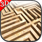 Maze Cartoon labyrinth 3D HD Icon