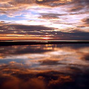 mirror by Mohd Shahrizan Taib - Landscapes Waterscapes ( water, zuiko lens, e-30, cloud, sea, tripod, olympus )