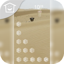 Yellow desert animal theme